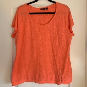 a.n.a Pink/Orange Lace Shirt 👚 Size 1X